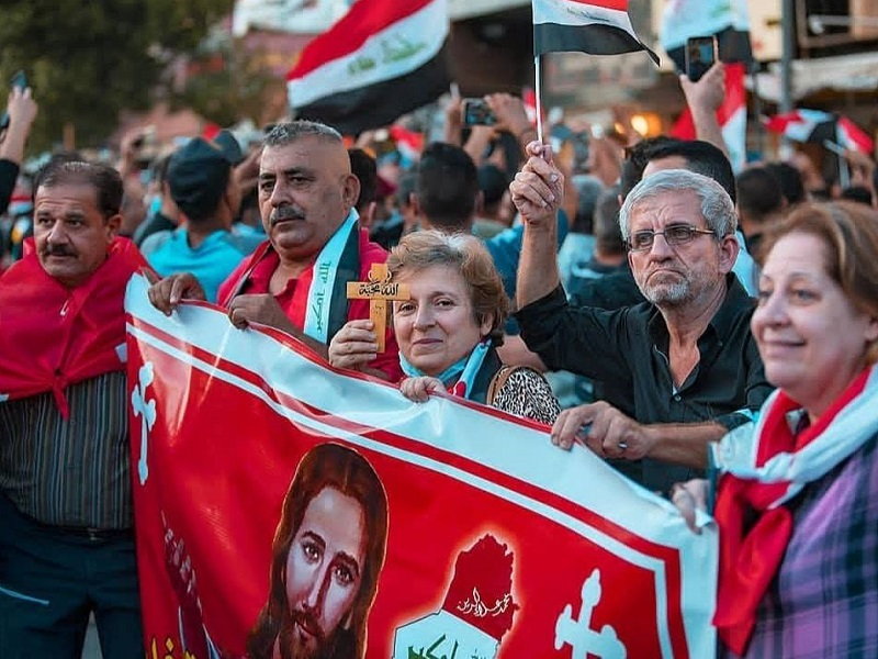 Iraqi Protests Reject Sectarian Constitution