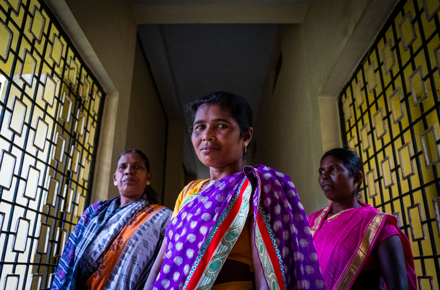 A group of Christian widows whose husbands were murdered for their faith during the Summer of 2008 meet together regularly in Kandhamal, India. Together they mourn, pray, and encourage each other to move forward in their relationships with Jesus Christ. Kandhamal, India. 2018. Photo: John Fredricks