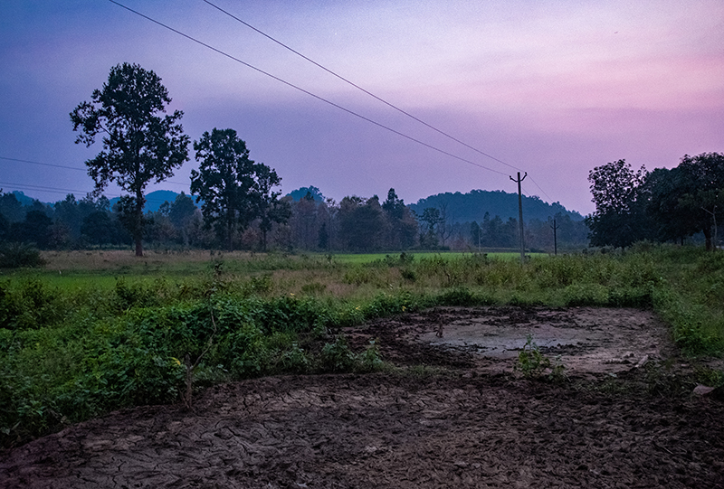 A village habited by the Hindu nationalists responsible for the 2008 Kandhamal riots sits desolate after a herd of wild elephants trampled it. Kandhamal, Odisha, India. 2018. Photo: John Fredricks