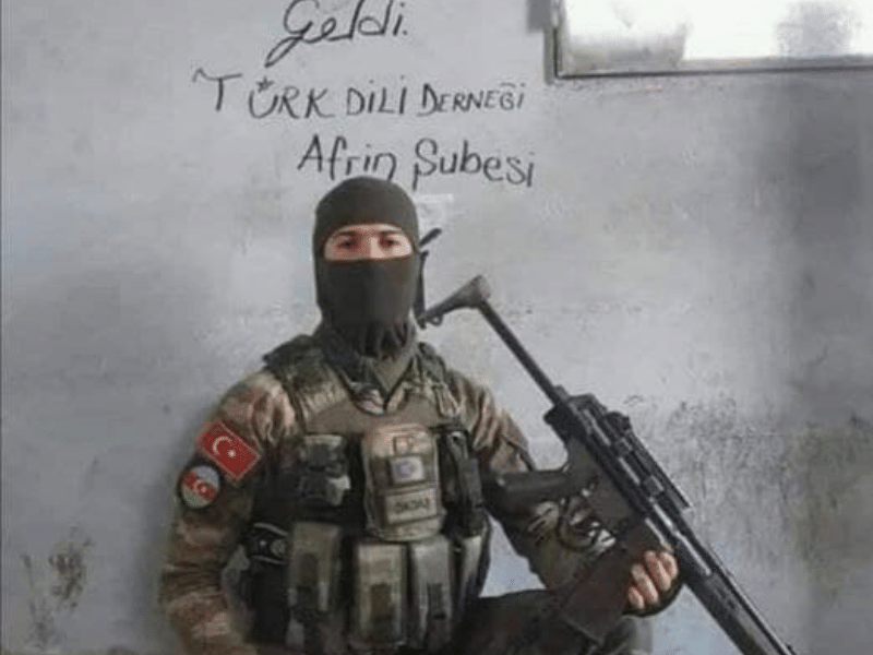 Terrorist mercenary from Syria used by Azerbaijan and Turkey against Christians